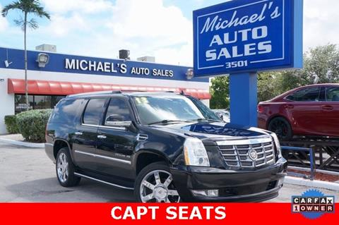 2013 Cadillac Escalade ESV for sale in West Park, FL