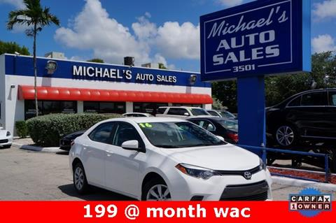 2016 Toyota Corolla for sale in West Park, FL