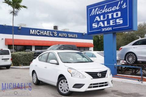 2019 Nissan Versa for sale at Michael's Auto Sales Corp in Hollywood FL