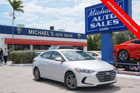 2018 Hyundai Elantra for sale in Hollywood, FL