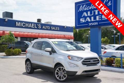 2018 Ford EcoSport for sale at Michael's Auto Sales Corp in Hollywood FL
