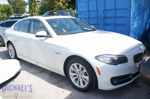2016 BMW 5 Series 528i xDrive for sale at Michael's Auto Sales Corp in Hollywood FL