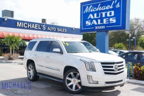 2015 Cadillac Escalade Luxury for sale at Michael's Auto Sales Corp in Hollywood FL