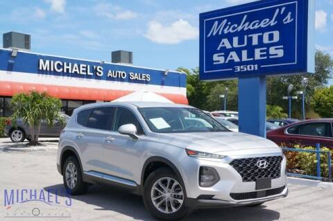 2019 Hyundai Santa Fe for sale at Michael's Auto Sales Corp in Hollywood FL
