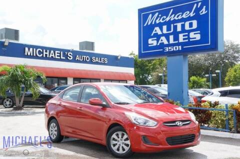 2016 Hyundai Accent for sale at Michael's Auto Sales Corp in Hollywood FL