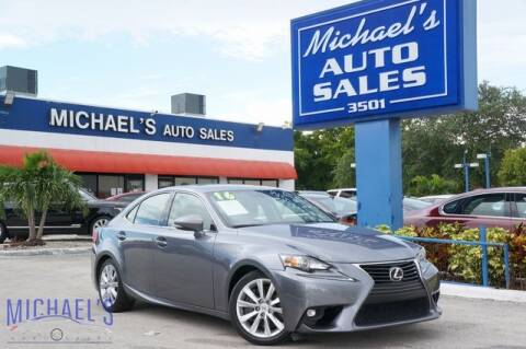 2016 Lexus IS 200t for sale at Michael's Auto Sales Corp in Hollywood FL