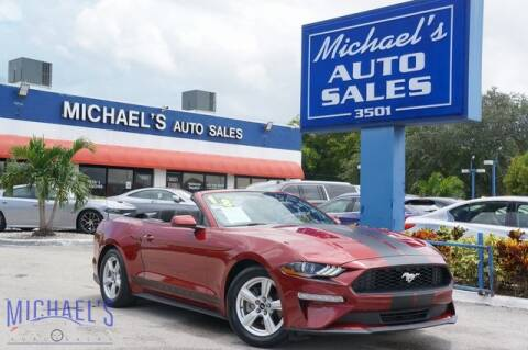 2018 Ford Mustang for sale at Michael's Auto Sales Corp in Hollywood FL