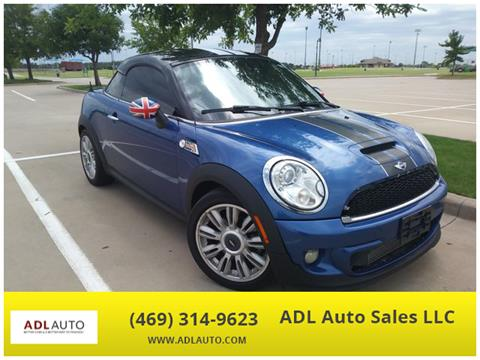 2012 MINI Cooper Coupe for sale in Lewisville, TX