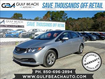 2014 Honda Civic for sale at GULF BEACH AUTO INC in Pensacola FL