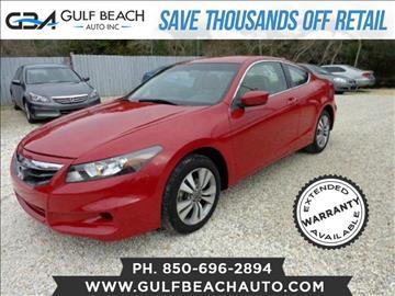 2011 Honda Accord for sale at GULF BEACH AUTO INC in Pensacola FL