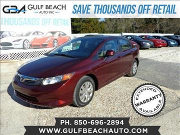 2012 Honda Civic for sale at GULF BEACH AUTO INC in Pensacola FL