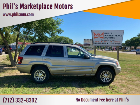 2004 Jeep Grand Cherokee for sale at Phil's Marketplace Motors in Arnolds Park IA