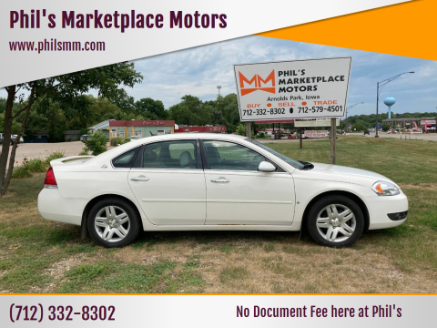 2007 Chevrolet Impala for sale at Phil's Marketplace Motors in Arnolds Park IA