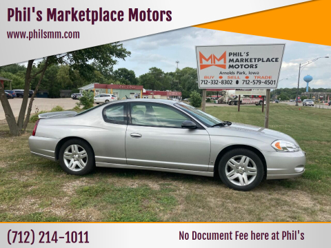 2007 Chevrolet Monte Carlo for sale at Phil's Marketplace Motors in Arnolds Park IA