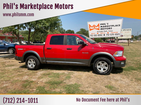 2010 Dodge Ram Pickup 1500 for sale at Phil's Marketplace Motors in Arnolds Park IA