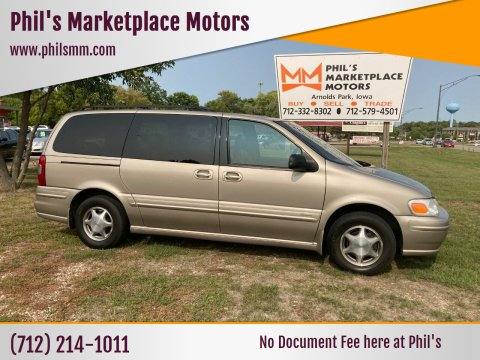 1999 Oldsmobile Silhouette for sale at Phil's Marketplace Motors in Arnolds Park IA