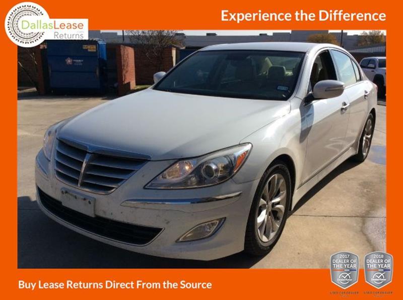 2013 Hyundai Genesis 3 8l 4dr Sedan In Dallas Tx Dallas Lease Returns