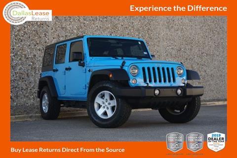 2017 Jeep Wrangler Unlimited for sale in Dallas, TX