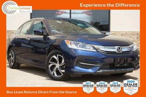2017 Honda Accord for sale at Dallas Auto Finance in Dallas TX