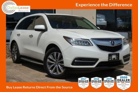 2014 Acura MDX for sale at Dallas Auto Finance in Dallas TX