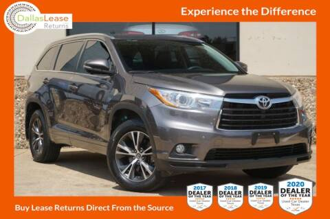 2016 Toyota Highlander for sale at Dallas Auto Finance in Dallas TX