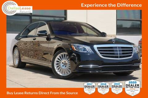 2019 Mercedes-Benz S-Class for sale at Dallas Auto Finance in Dallas TX