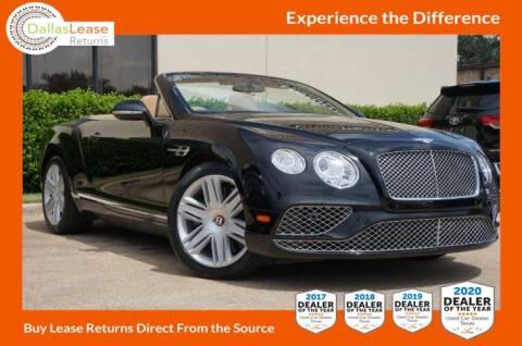2016 Bentley Continental for sale at Dallas Auto Finance in Dallas TX