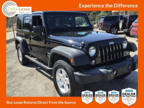 2016 Jeep Wrangler Unlimited for sale at Dallas Auto Finance in Dallas TX