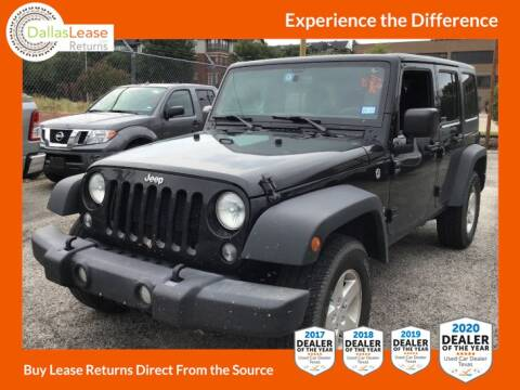 2017 Jeep Wrangler Unlimited for sale at Dallas Auto Finance in Dallas TX