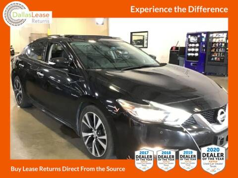 2016 Nissan Maxima for sale at Dallas Auto Finance in Dallas TX