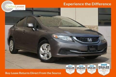2013 Honda Civic for sale at Dallas Auto Finance in Dallas TX