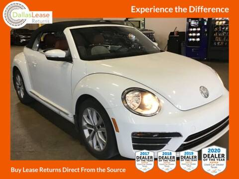 2017 Volkswagen Beetle Convertible for sale at Dallas Auto Finance in Dallas TX