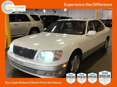 2000 Lexus LS 400 for sale at Dallas Auto Finance in Dallas TX