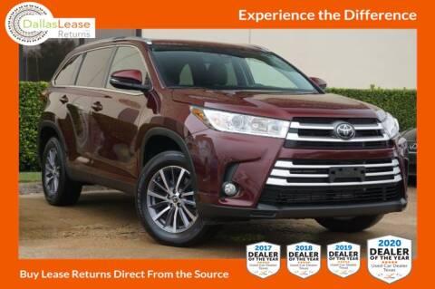 2019 Toyota Highlander for sale at Dallas Auto Finance in Dallas TX