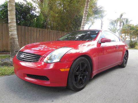 2005 Infiniti G35 for sale at FINANCIAL CLAIMS & SERVICING INC in Hollywood FL