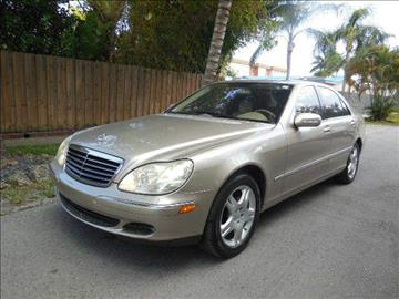 2004 Mercedes-Benz S-Class for sale at FINANCIAL CLAIMS & SERVICING INC in Hollywood FL