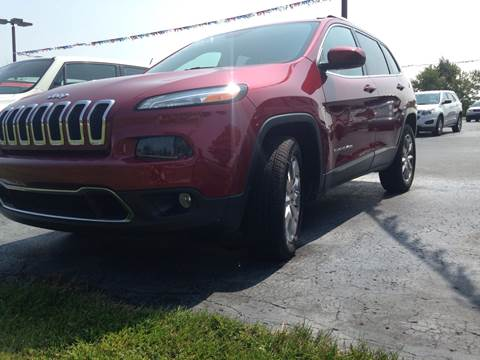 2015 Jeep Cherokee for sale at EAGLE ONE AUTO SALES in Leesburg OH