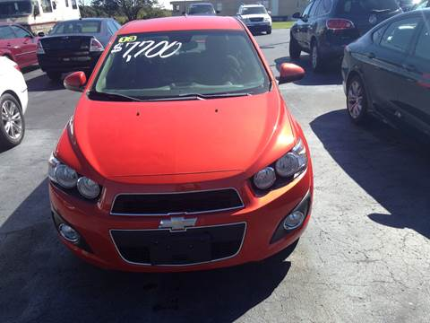 2013 Chevrolet Sonic for sale at EAGLE ONE AUTO SALES in Leesburg OH