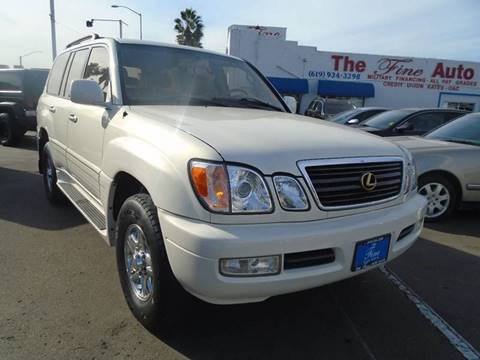 2000 Lexus LX 470 for sale at The Fine Auto Store in Imperial Beach CA