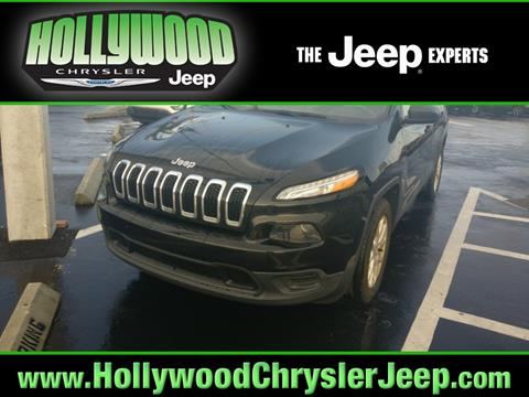 2016 Jeep Cherokee for sale in Hollywood, FL