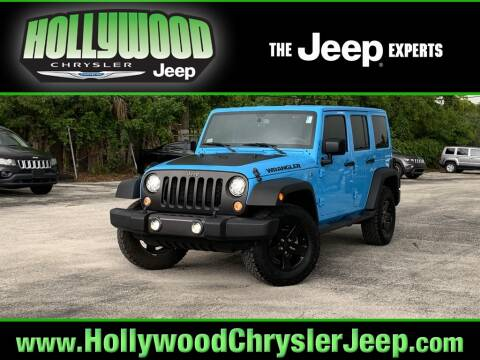 2017 Jeep Wrangler Unlimited for sale at HOLLYWOOD CHRYSLER JEEP in Hollywood FL