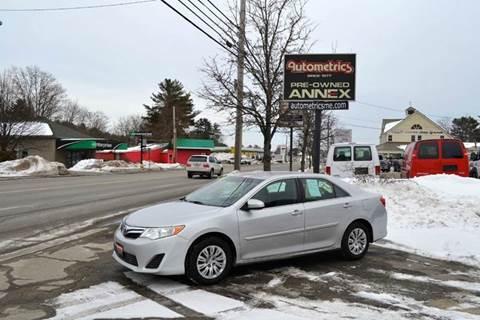 2012 Toyota Camry for sale at AUTOMETRICS in Brunswick ME