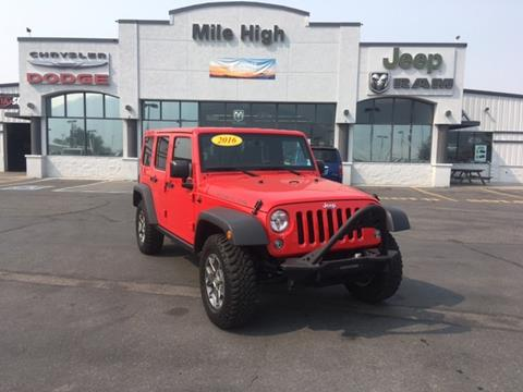 2016 Jeep Wrangler Unlimited for sale in Butte, MT