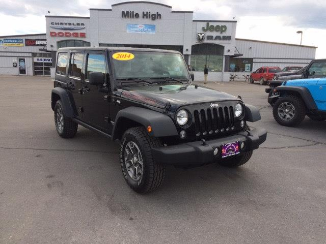 2014 jeep wrangler unlimited 4x4 rubicon 4dr suv in butte for Mile high motors butte