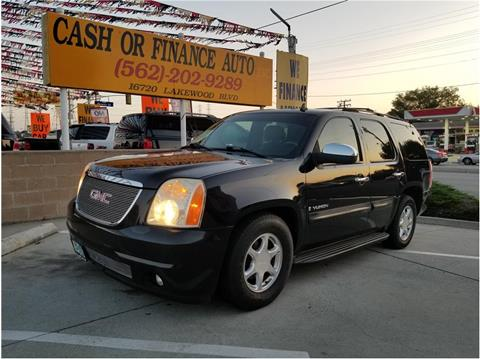 2007 GMC Yukon for sale at Cash or Finance Auto in Bellflower CA