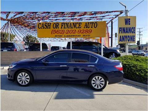 2015 Honda Accord for sale at Cash or Finance Auto in Bellflower CA
