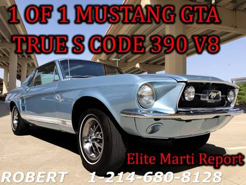 1967 Ford Mustang for sale at Mr. Old Car in Dallas TX