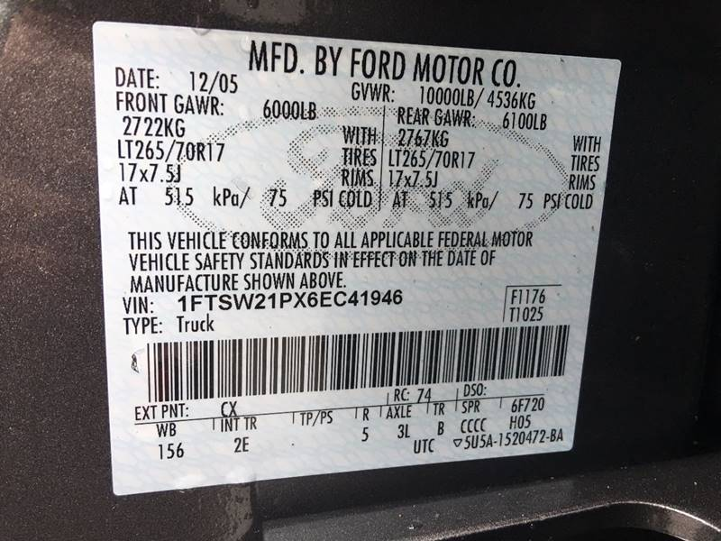 2006 Ford F-250 Super Duty for sale at Frontier Auto Sales 3rd Party Inspection #3 in Anchor AK