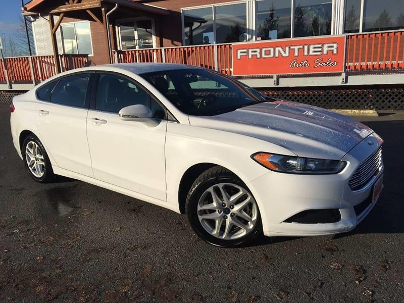 2014 Ford Fusion for sale at Frontier Auto Sales in Anchorage AK