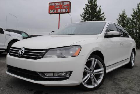 2013 Volkswagen Passat for sale at Frontier Auto & RV Sales in Anchorage AK